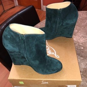 AUTHENTIC GENTLY WORN CHRISTIAN LOUBOUTIN BOOTIES